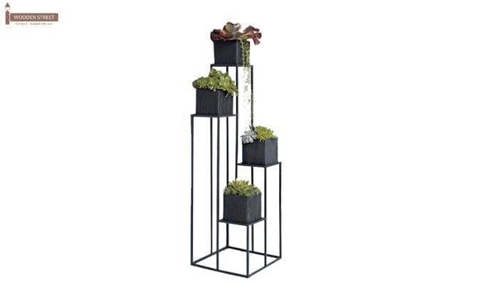 Avast Plant Stand- Set of 3 (Black Finish)-2