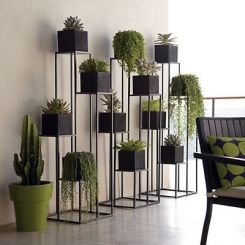 Avast Plant Stand- Set of 3 (Black Finish)