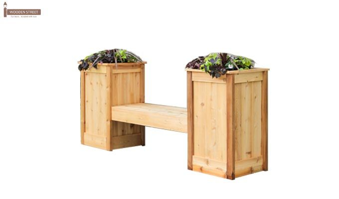 Avery Planter Bench (Natural Finish)-1