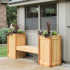 Avery Planter Bench (Natural Finish)