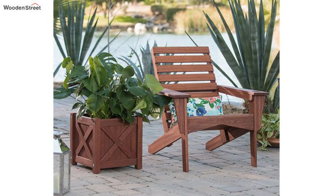 Fern Square Planter Box (Honey Finish)-2