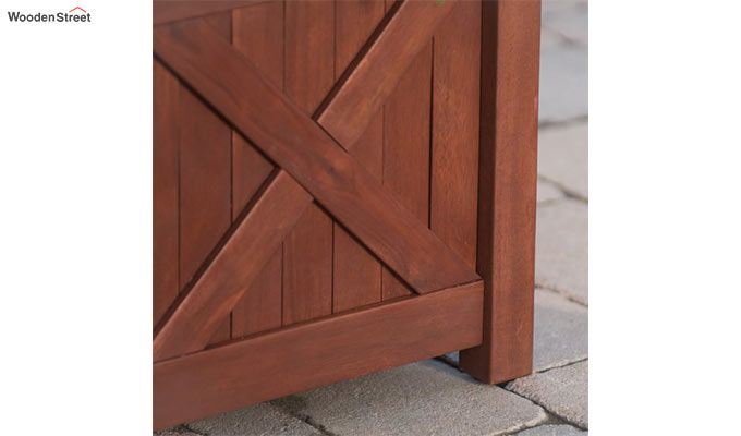 Fern Square Planter Box (Honey Finish)-5