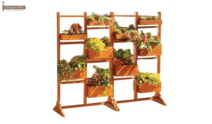 Leo Plant Stand (Honey Finish)-1