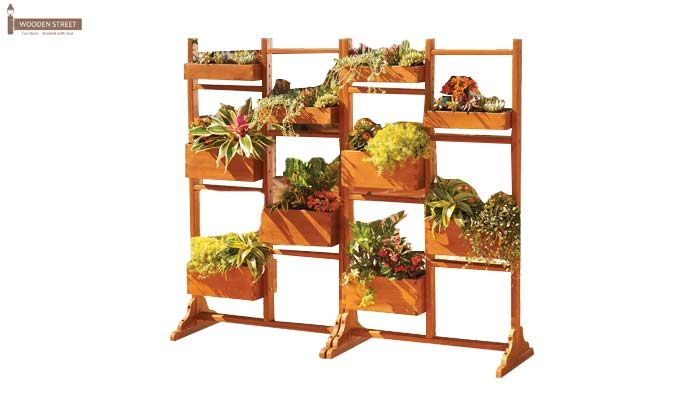 Leo Plant Stand (Honey Finish)-3