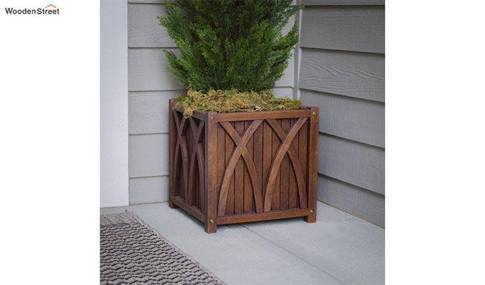 Lucy Wood Planter Box (Walnut Finish)-2