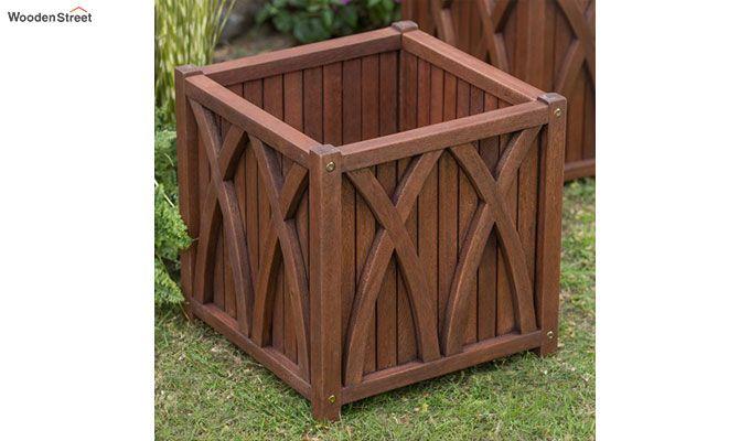 Lucy Wood Planter Box (Walnut Finish)-4