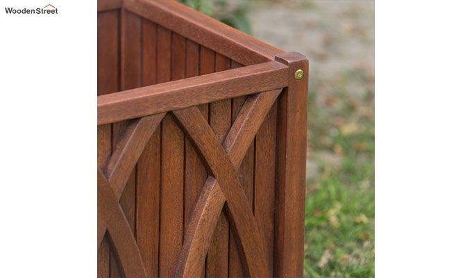 Lucy Wood Planter Box (Walnut Finish)-5