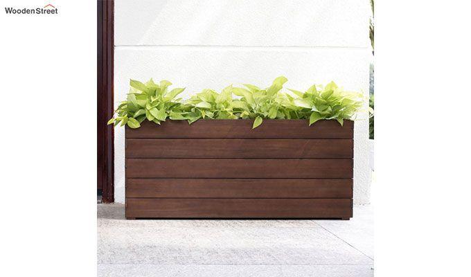 Mia Rectangle Planter Box (walnut Finish)-1