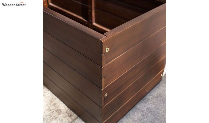 Mia Rectangle Planter Box (walnut Finish)-4