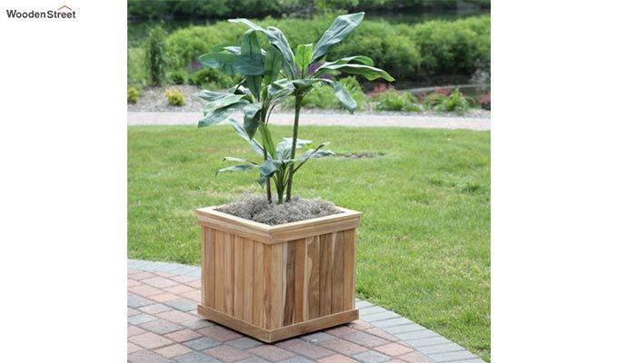Rosemary Planter Box (Teak Finish)-1