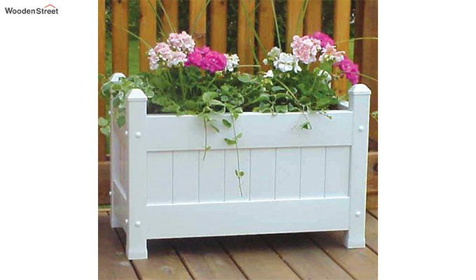 Sarah Wooden Planters (White Finish)-1
