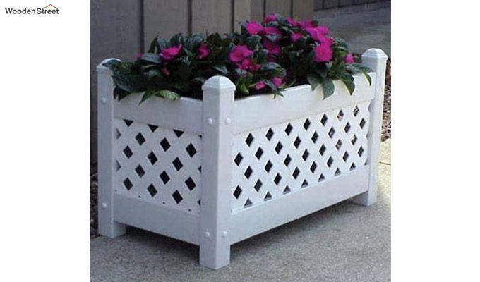 Thore Rectangle Planter Box (White Finish)-1