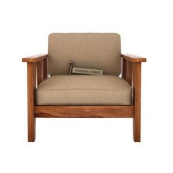 Mcleod 1 Seater Wooden Sofa (Teak Finish)