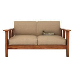 Mcleod 2 Seater Wooden Sofa (Teak Finish)