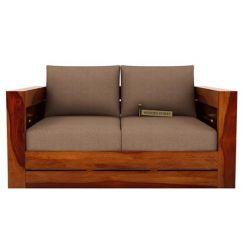 Stegen 2 Seater Wooden Sofa (Honey Finish)