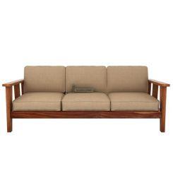 Mcleod 3 Seater Wooden Sofa (Teak Finish)