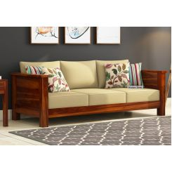 Agnes 3 Seater Wooden Sofa