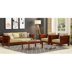 Agnes Wooden Sofa 3+1+1 Set