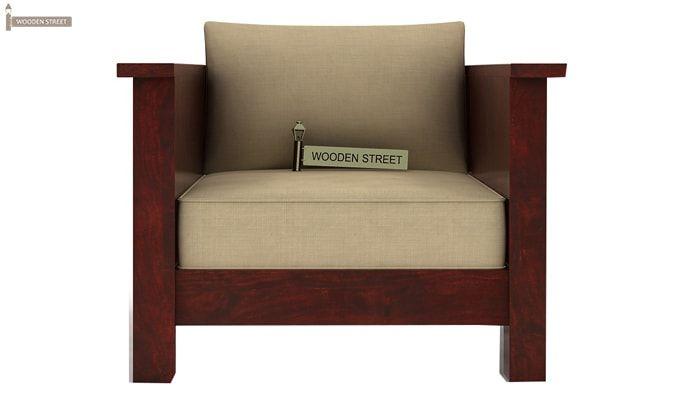 Agnes 1 Seater Wooden Sofa (Mahogany Finish)-2