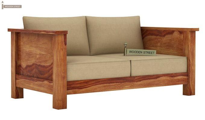 Agnes 2 Seater Wooden Sofa (Teak Finish)-1
