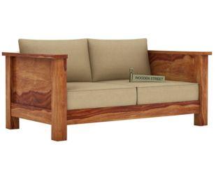 Agnes 2 Seater Wooden Sofa (Teak Finish)