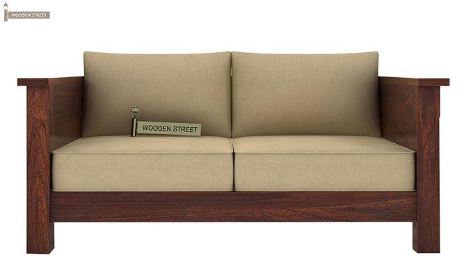 Agnes 2 Seater Wooden Sofa (Walnut Finish)-2