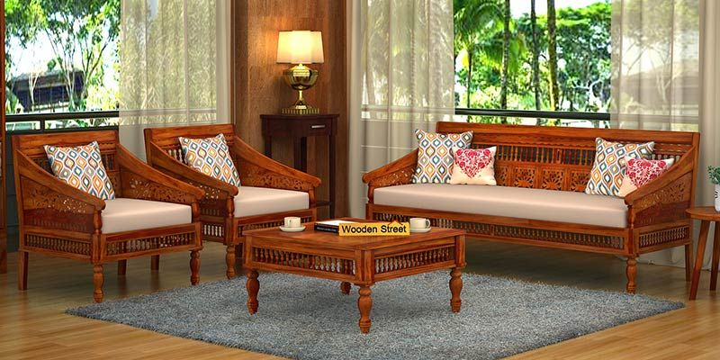 Wooden Sofa Set: Best Wooden Sofa Set Online in India Upto 55% OFF