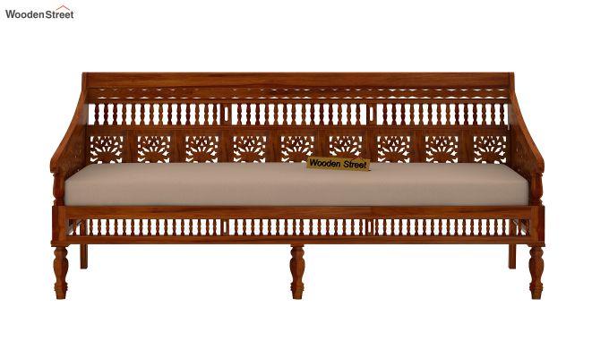 Alanis 3+2 Seater Wooden Sofa (Honey Finish)-3