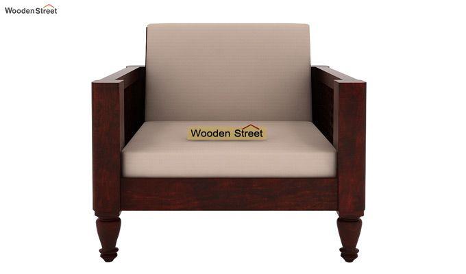 Angelica 1 Seater Wooden Sofa (Mahogany Finish)-2