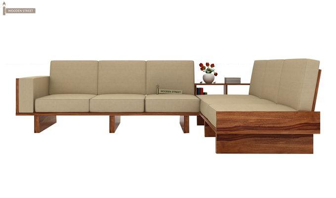 Audrey 6 Seater L Shape Corner Sofa Set (Teak Finish)-2