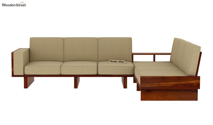 Audrey 6 Seater L Shape Corner Sofa Set (Honey Finish)-4