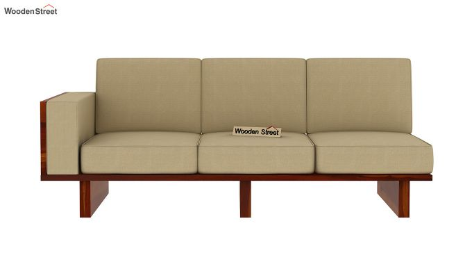 Audrey 6 Seater L Shape Corner Sofa Set (Honey Finish)-6