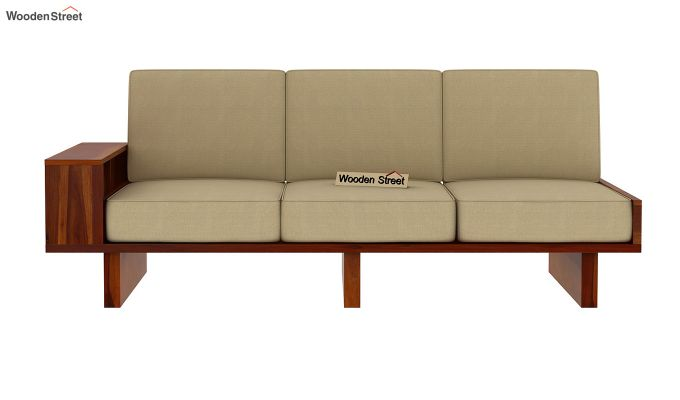 Audrey 6 Seater L Shape Corner Sofa Set (Honey Finish)-8