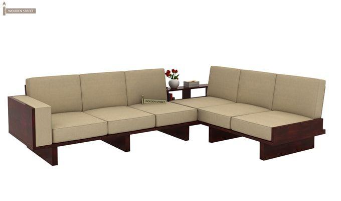 Audrey 6 Seater L Shape Corner Sofa Set (Mahogany Finish)-1