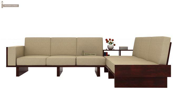 Audrey 6 Seater L Shape Corner Sofa Set (Mahogany Finish)-2