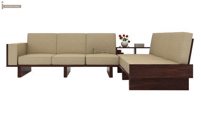 Audrey 6 Seater L Shape Corner Sofa Set (Walnut Finish)-3