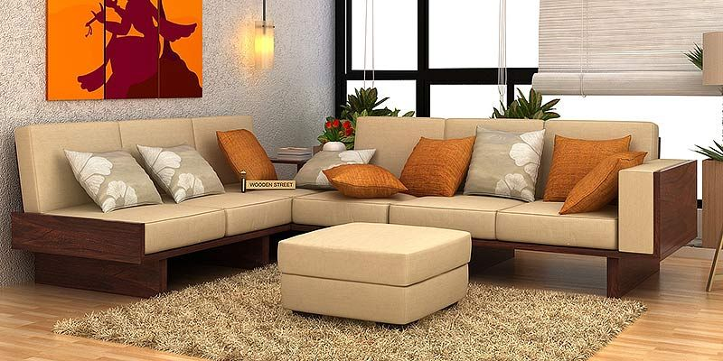 Wooden Sofa Set In Simple Design Ws 67 Details Bic Furniture India
