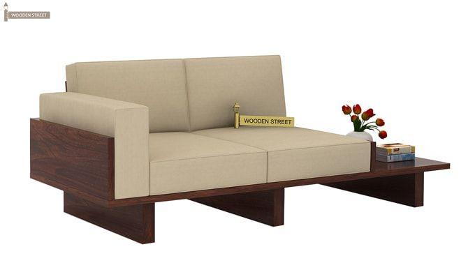 Buy Azlin Wooden Sofa 3 2 Set Walnut Finish Online In