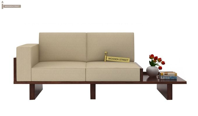 Azlin Wooden Sofa 3+2 Set (Walnut Finish)-3