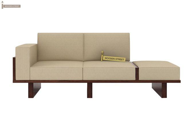 Azlin Wooden Sofa 3+2 Set (Walnut Finish)-4