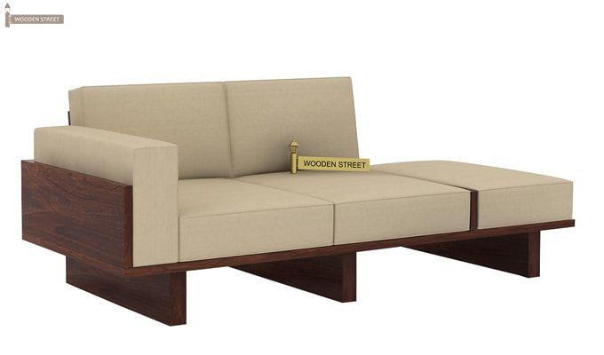 Azlin Wooden Sofa 3+2 Set (Walnut Finish)-5