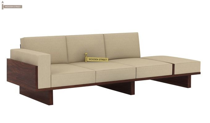 Azlin 3 Seater Wooden Sofa (Walnut Finish)-2