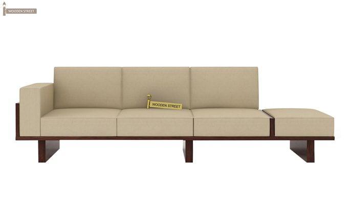 Azlin 3 Seater Wooden Sofa (Walnut Finish)-3