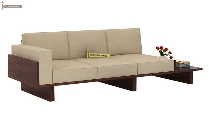 Azlin 3 Seater Wooden Sofa (Walnut Finish)-5