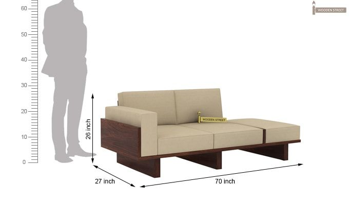 Azlin Wooden Sofa 3+2 Set (Walnut Finish)-10