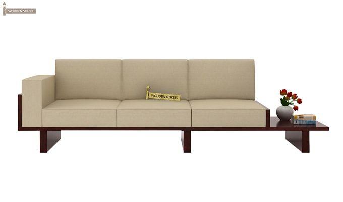Azlin 3 Seater Wooden Sofa (Mahogany Finish)-2