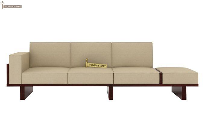 Azlin 3 Seater Wooden Sofa (Mahogany Finish)-3