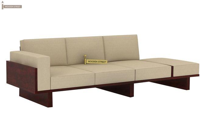 Azlin 3 Seater Wooden Sofa (Mahogany Finish)-4