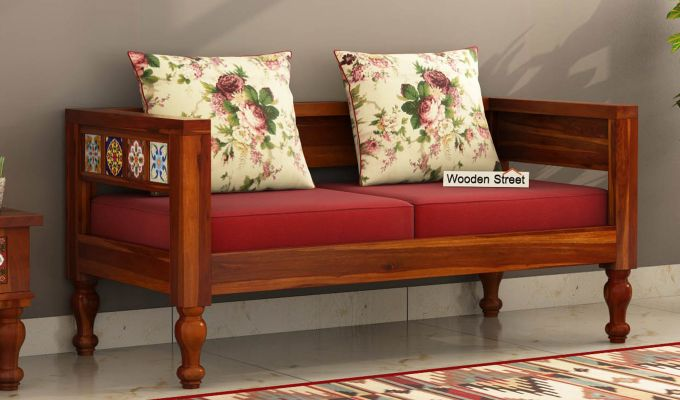 Buy Boho 2 Seater Wooden Sofa Online In India Wooden Street