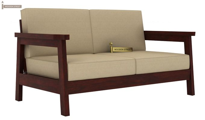 Conan Wooden Sofa 2+1+1 Set (Mahogany Finish)-4